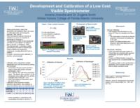 Development and Calibration of a Low-Cost Visible Spectrometer