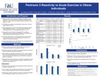 Pentraxin 3 Reactivity to Acute Exercise in Obese Individuals