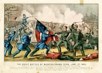 The Great Battle of Murfeesboro, Tenn., 1863
