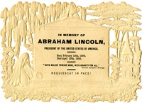 Lincoln Mourning Card, 1865