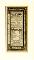 Ford's Theater Theatrical Programme, 1873