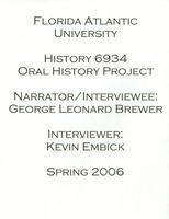 Interview with George Brewer – ca. 2006