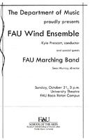 FAU Wind Ensemble and FAU Marching Band - October 2007