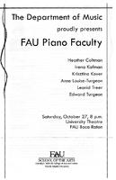 FAU Piano Faculty - October  2007