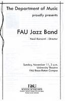 Program - FAU Jazz Band - November 2007