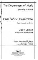 Program - FAU Wind Ensemble November - 2007