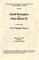 Recital by Sandi Bruington and John Harris conducting the FAU Chamber Players - March 2009