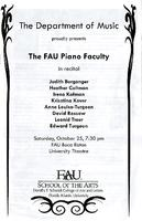 The FAU piano faculty in recital - October 2008.