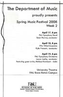 FAU Spring Music Festival 2008: FAU Symphony Band - April 2008