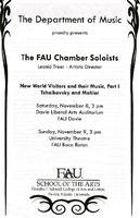 Program-The FAU Chamber Soloists