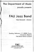 Program--FAU jazz band performance - February 2008