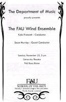 Program--The FAU wind ensemble - November 2008
