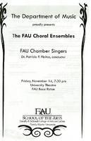 Program - FAU Choral Ensembles - November 2008
