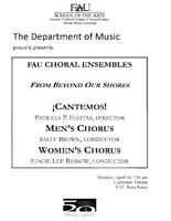 Program: FAU Choral Ensembles: From Beyond Our Shores - Spring 2011