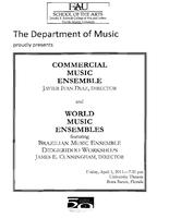 Program: FAU Commercial Music Ensemble: Sounds of the Seventies - Spring 2011