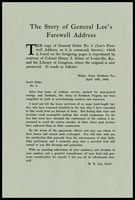 The Story of General Lee's Farewell Address, 1865