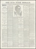 Front page of the New York Herald, April 15, 1865