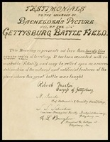 Testimonies to the Accuracy of the Bachelder's picture of the Gettysburg battlefield