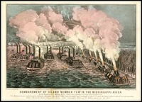"Bombardment of Island ""Number Ten"" in the Mississippi River, 1862"