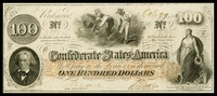 One hundred dollars confederate currency