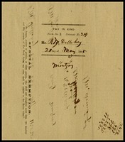 Bacon tax form, 1865