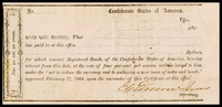 Conferate States of America registered bond
