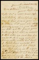 William Clarke, in Taunton, England, to his son, William