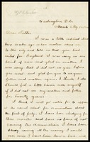 Willie [William J.P. Clarke], in Washington, D.C., to his father, William Clarke, in England