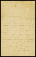 Letter from Jefferson Davis to George Booker, 1887