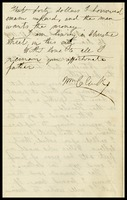 William Clarke, in N.Y., to his son, Alfred, in D.C.