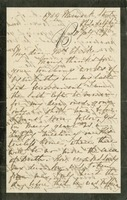 W. Bennett, in Philadelphia, to Mrs. [Elizabeth] Clarke, in D.C.