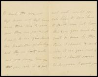 A. Morris, in Bishop Stortford, to Master Clarke, [Will, Alfred or John]