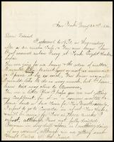 C.F. Guyon, in N.Y., to W.J.P.[Will] Clarke