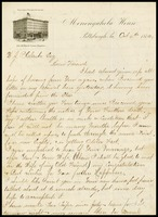 C.F.Guyon, on Monongahela Inn in Pittsburgh note paper, to W.J.P. [Will] Clarke