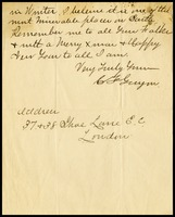 C.F. Guyon, in London., to W.J.P. [Will] Clarke, in D.C.