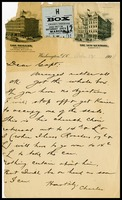 Charles [Linkins], on The Regents and The New Kenmore in D.C. notepaper, to Capt. [Will Clarke]