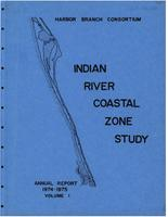Indian River study annual report 1974-1975 volume 1