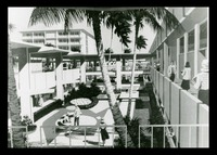 Architectural Rendering of the Sunken Patio, 1963