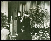 Williams Receives the Ceremonial Chain, 1964