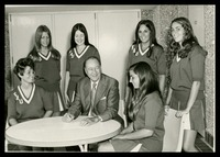 Williams with FAU Cheerleaders, 1969