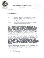 Florida Atlantic University Historical Files: Correspondence on Planning for FAU, May, 1961 - April, 1961