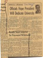 Florida Atlantic University Historical Files: Dedication News Articles 1964