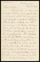 [John Clarke], in Brooklyn, to his mother, [Elizabeth]