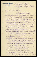 Edwin Simpson, in N.Y. to Mrs. [Elizabeth] Clarke, in D.C.