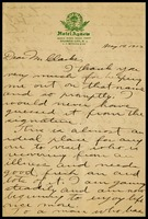 Stuart H. Edmunds, on Hotel Agnew in Atlantic City notepaper, to Mr. [Will] Clarke, 3/14/1903