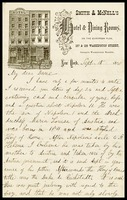 William Clarke, on McNell's Hotel note paper in N.Y., to The Dane [Alfred  Clarke], in D.C.