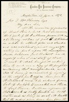 Letter from Jefferson Davis to McPherson, 1872