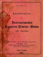 Constitution der Internationalen Cigarren Arbeiter Union