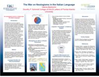 The War on Neologisms in the Italian Language
