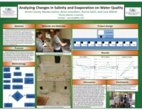 Analyzing Changes in Salinity and Evaporation on Water Quality